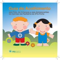 Guia de Acolhimento aos Pais, às Crianças e aos Adolescentes do Serviço de Pediatria do IPO-Porto